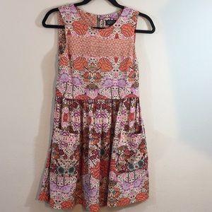 Top Shop Cotton Floral Sleeveless Dress- Size 4
